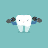 Sensitive tooth with ice, dental concept. - 219734318