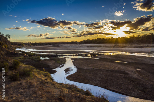 Fototapeta Sunset in Olifant river landscape in Kruger National park, South Africa