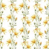 Watercolor floral pattern - 219745765