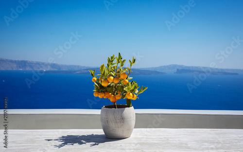 Beautiful santorini landscape