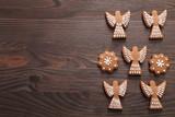 Gingerbread cookies. - 219751172
