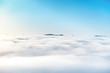 Green mountain peak in the ocean of clouds - 219752326