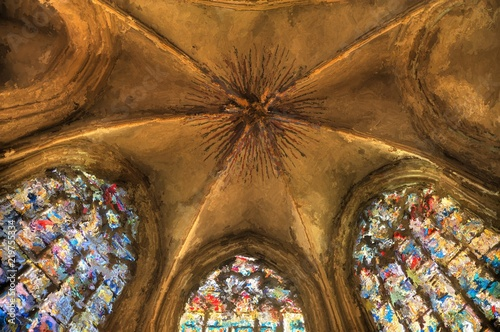 Digital Painting of an Interior of a Church © crimson