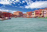 Small boats in canal on Murano - 219755975