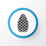 Pine cone icon symbol. Premium quality isolated cedar element in trendy style. - 219757955