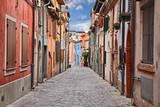 Rimini, Emilia-Romagna, Italy: street in the ancient San Giuliano district - 219768938