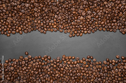 coffee bean background Arabica coffee roasted