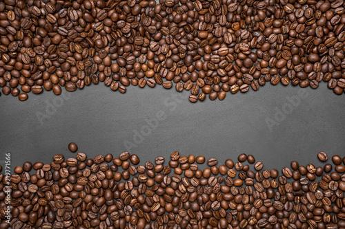 coffee bean background Arabica coffee roasted - 219771566
