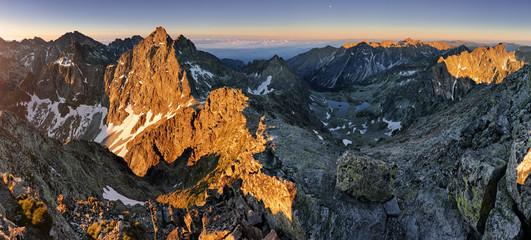 Panorama landscape of mountain at sunset, Slovakia. © TTstudio