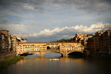 Sunset at Ponte Vecchio. Florence, Italy - 219775584