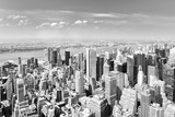 View of Manhattan from the skyscraper's observation deck. New York. - 219776372