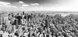View of Manhattan from the skyscraper's observation deck. New York. - 219776391