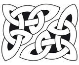 Celtic knot template silhouette walltattoo wallsticker - 219776725