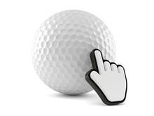 Golf Ball  Web Cursor Sticker