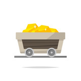 Gold mining cart vector isolated - 219786556