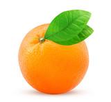 Fresh mandarin with leaf - 219788568