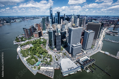 Foto Murales Financial District New York bei Tag