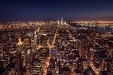 Downtown New York bei Nacht