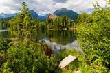 landscape on mountain lake - 219800941