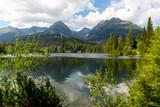 Lake Strebske Pleso in Slovakia - 219800977