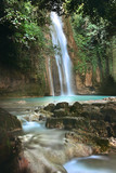 Cebu, Barili, Mantayupan Falls in tropical scenery