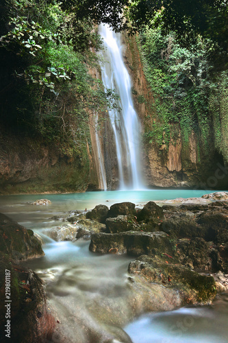Cebu, Barili, Mantayupan Falls in tropical scenery - 219801187
