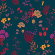 Abstract elegance pattern with floral background. - 219806783