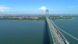 Epic aerial verrazano Bridge New York - 219811191