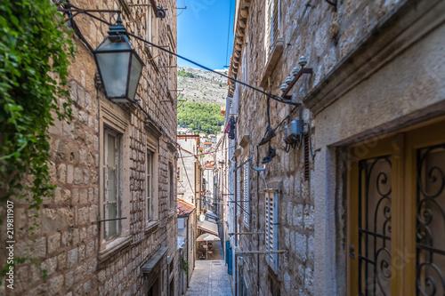 Leinwanddruck Bild View of Dubrovnik old city in summer, Croatia