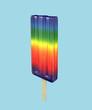 Colorful rainbow color fruit ice pop - 219817738