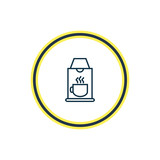 Vector illustration of coffee machine icon line. Beautiful vacation element also can be used as coffeemaker icon element. - 219817752