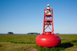 Red nautical buoy at Five Islands, Nova Scotia.