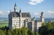 Leinwanddruck Bild - neuschwanstein castle on a sunny day