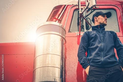 Sticker Semi Truck Driving Job