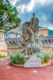 Monument in honor of foreign colonies in the city of Monaco - 219839349