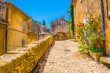 Narrow street in Menerbes village in France