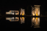 Madrid. Templo de Debot at night