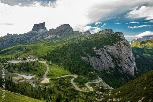 Panorama Dolomiti val Badia San Cassiano Veneto