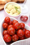 Light meal with cherry tomatoes and cheese - 219852343
