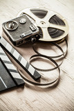 Vintage filmmakers equipment background - 219853780