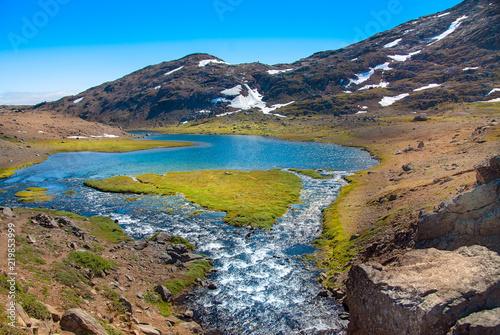 Leinwanddruck Bild Tal in Tasiilaq, Ostgrönland