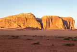 Jebel Qatar Mountain in Wadi Rum, Jordan. - 219854744