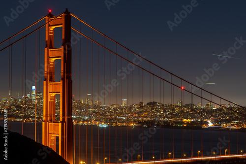 Golden Gate Bridge by Night San Francisco