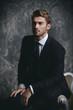 handsome boy in suit