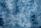 Pattern of blue tie batik dye on cotton cloth, Dyed indigo fabric background and textured - 219877381