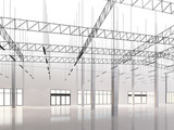 sketch design of interior warehouse, 3d rendering - 219879515