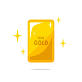Fine gold bar vector isolated - 219911504