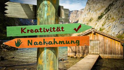 Schild 353 - Kreativität © Thomas Reimer