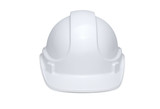 White Hardhat Front View - 219923180