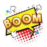 Boom! Comic Speech Bubble, Cartoon